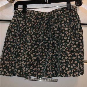 Floral skort, silk pants